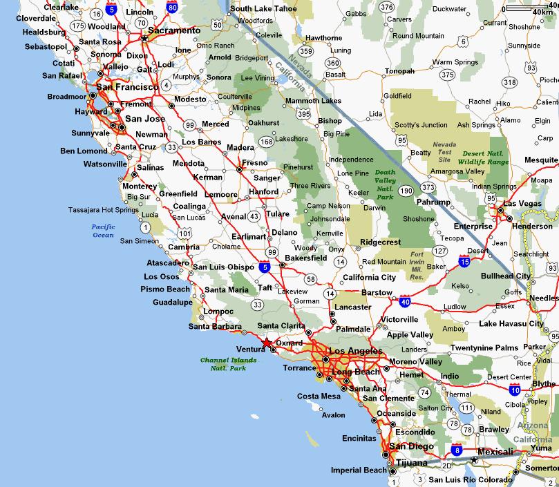 Map Of Southern California Beaches Description of bike rides in California Map Of Southern California Beaches